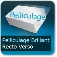 Cartes de correspondance Pelliculage Brillant Recto Verso
