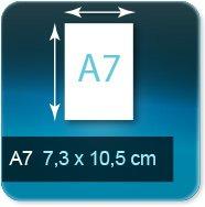 Flyers A7 7,4x10,5 cm