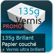 Flyers 135g couché brillant + VERNIS ultra-brillant recto verso