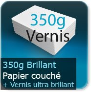 Flyers 350g couché brillant + VERNIS ultra-brillant recto verso