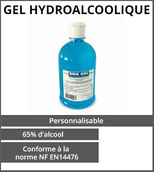 PRODUITS DÉCONFINEMENT Gel hydroalcoolique 500ml - Conforme à la norme NF - Impression quadri recto