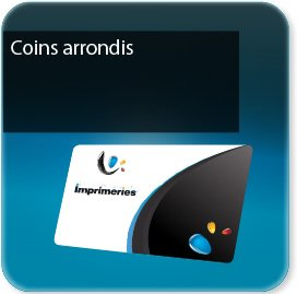 carte commerciale Carte coins ronds - standard-vernis-pelliculage possible
