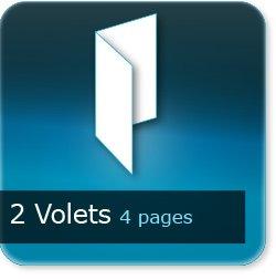 Dépliants / Plaquettes 2 volets - 4 pages - impression Couleur Recto et Verso quadri