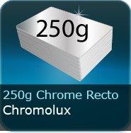 Dépliants / Plaquettes 250g Chromolux Chrome recto