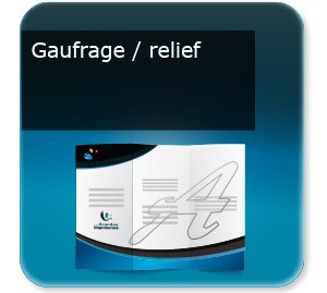 Document 4 volets Gaufrage relief