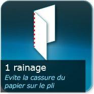 Dépliants / Plaquettes 1 pli + Rainage