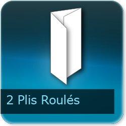 Dépliants / Plaquettes 2 plis roulés