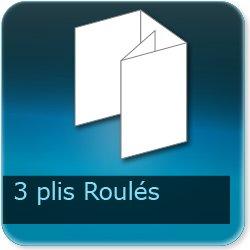 Dépliants / Plaquettes 3 plis roulés