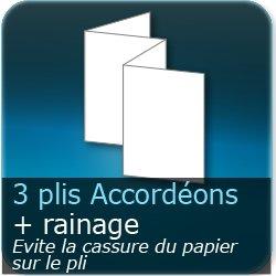 Dépliants / Plaquettes 3 plis accordéon + Rainage