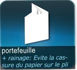 Dépliants / Plaquettes 3 plis portefeuille + Rainage