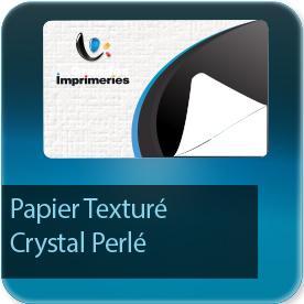 Autocollant & Étiquette Texturé cristal (papier gaufré type nid d'abeille et effet irisé et perlé)  + vernis brillant