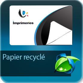 Autocollant & Étiquette standard papier blanc recyclé