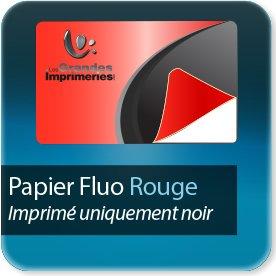 Autocollant & Étiquette Rouge fluo