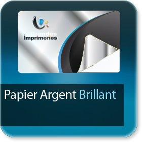 Autocollant & Étiquette Papier Argent brillant adhésif