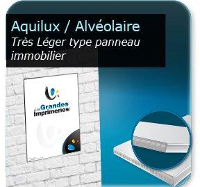 Panneau publicitaire plastique alvéoraire (AKILUX)