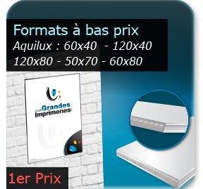 Réaliser Panneau Aquilux publicitaire créer Aquilux Formats standards éco (60x40 -120x40 -120x80 -50x70 -60x80cm