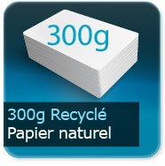 Flyers 300g Recyclé Blanc