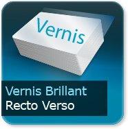 Cartes de correspondance Vernis Brillant Recto Verso