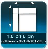 Affiches Assemblage de 4 tableaux  pour un format de 133 x 133 cm