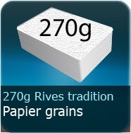 Cartes de visite 270g Grains Rives Ttradition