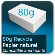 Flyers 80g Recyclé Blanc