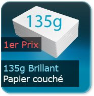 Flyers 135g couché brillant