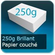 Flyers 250g couché brillant