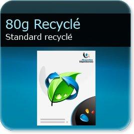 papier a lettre personnalisé 80g Recyclé Blanc - Compatible imprimante laser & jet d'encre