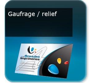 Cartes de correspondance Gaufrage relief
