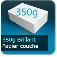 Flyers 350g couché brillant