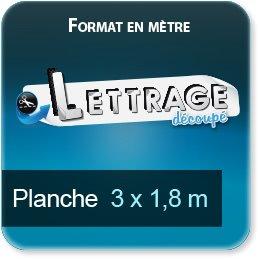 Autocollant & Étiquette Surface du lettrage jusqu'à 1,8 x 3 mètres (livrée en 3 morceaux)