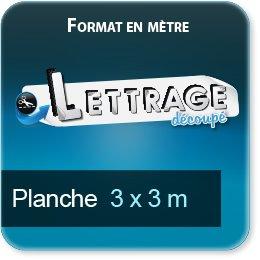 Autocollant & Étiquette Surface du lettrage jusqu'à 3  x 3 mètre (livrée en 5 morceaux)