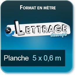 Autocollant & Étiquette Surface du lettrage jusqu'à 0,6 x 5 mètre (livrée en 2 morceaux)