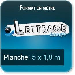 Autocollant & Étiquette Surface du lettrage jusqu'à 1,8 x 5 m (livrée en 4 morceaux)