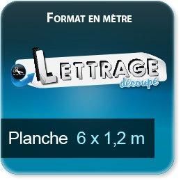 Autocollant & Étiquette Surface du lettrage jusqu'à 1,2 x 6 mètres (livrée en 3 morceaux)