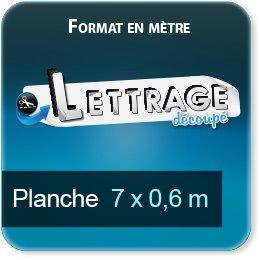 Autocollant & Étiquette Surface du lettrage jusqu'à 0,6 x 7 mètre (livrée en 2 morceaux)