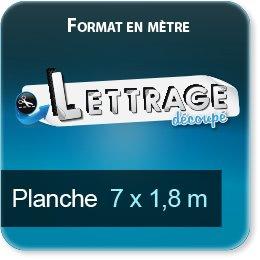 Autocollant & Étiquette Surface du lettrage jusqu'à 1,8 x 7 mètres (livrée en 4 morceaux)