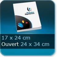 Livre dos cousu Fermé 17 x 24 cm - Ouvert 34 x 24 cm