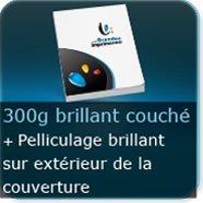 Livre Couverture 300g couché Brillant + Pelliculage brillant exterieur