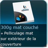 Livre Couverture 300g couché Mat+ Pelliculage Mat exterieur