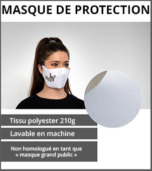 PRODUITS DÉCONFINEMENT Tissu polyester 210g m² OEKO-TEX - réutilisable, imperméable et lavable en machine jusqu'à 40° - Adapté à un usage personnel et non professionnel