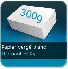 Menus 300g vergé blanc diamant conqueror