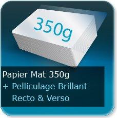 Menus 350g mat + pelliculage brillant recto et verso