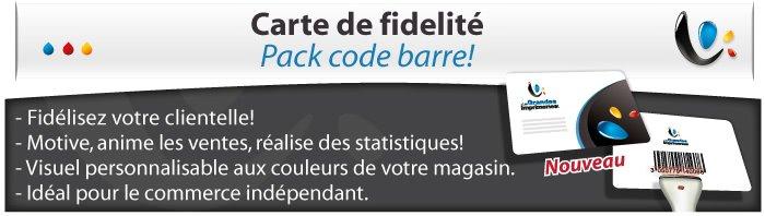 Carte de fidelité Pack FIDECO logiciel + lecteur code barre + 500 carte plastique personnalisée