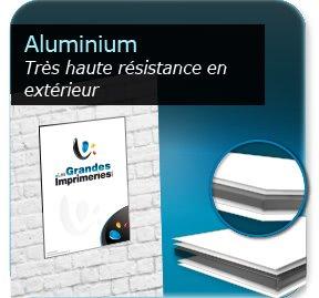 Réaliser Panneau Aquilux publicitaire créer aluminium (eurobon)