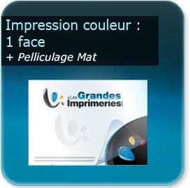 Panneaux Impression couleur recto + pelliculage mat
