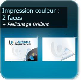 Panneaux Impression couleur des 2 cotés + pelliculage brillant