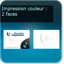 Panneaux Impression couleur des 2 cotés du panneau