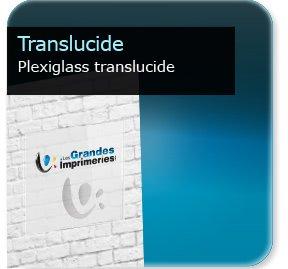 Panneau publicitaire Plexiglass translucide