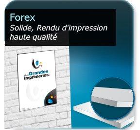 Panneau publicitaire plastique pvc (Forex)